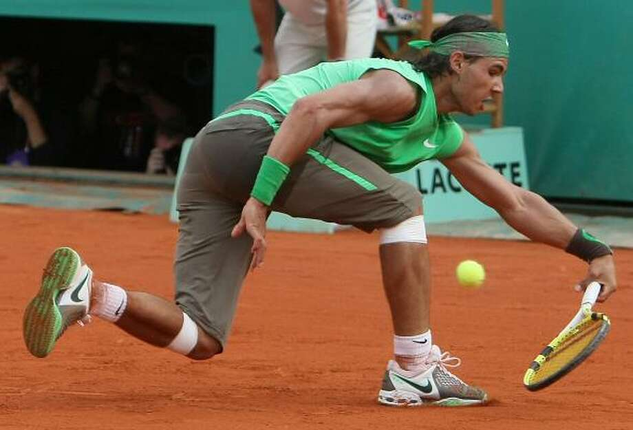 Getting anything past Rafael Nadal on Sunday was nearly impossible. Photo: THOMAS COEX, AFP/GETTY IMAGES