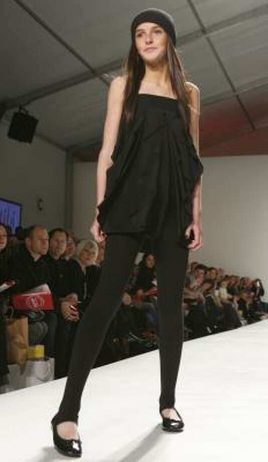 Ali Lohan walks the runway during Child magazine's fall 2007 show in New York. Living Lohan chronicles her experience recording a CD. Photo: DIANE BONDAREFF, ASSOCIATED PRESS