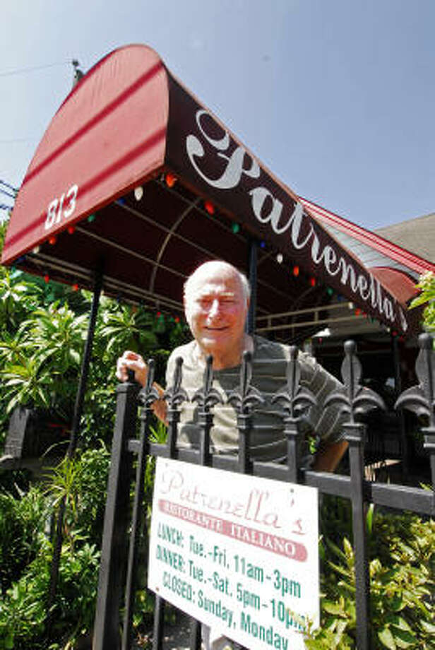 TONY BULLARD: FOR THE CHRONICLE STAYING IN THE NEIGHBORHOOD: Sammy Patrenella's restaurant, Patrenella's, and the Corleone Bar and Grill, 813 Jackson Hill, are only 45 paces from his living quarters Photo: Tony Bullard