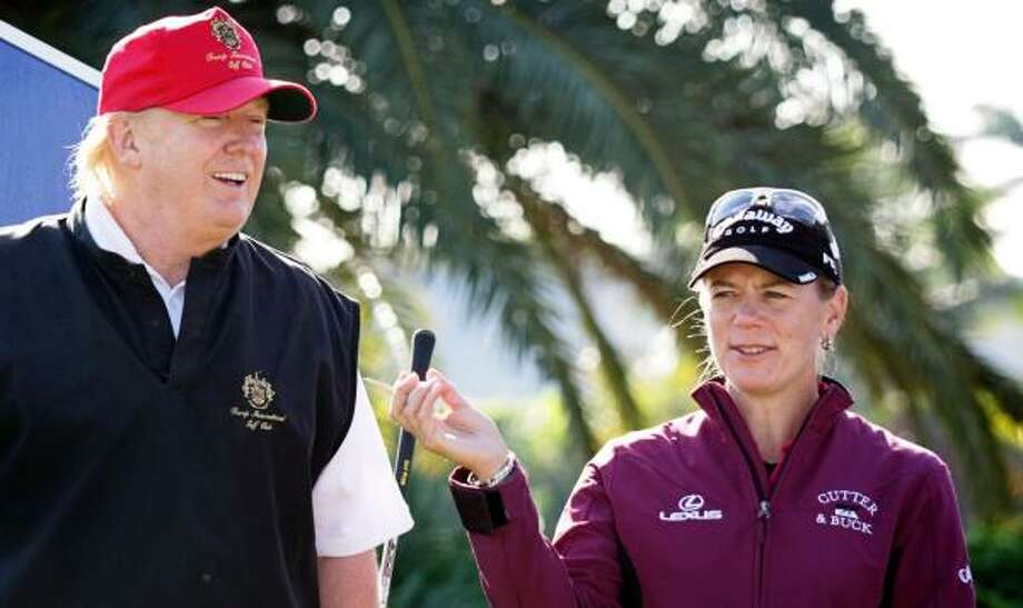 "The LPGA essentially said, ""You're fired,"" to the ADT, where Donald Trump and Annika Sorenstam are this week. Photo: RICH GRAULICH, Palm Beach Post"