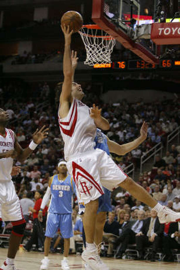 Rockets forward Luis Scola Scola is averaging 12.4 points and 6.4 rebounds and shooting 59 percent in 18 games as a starter. He's even better — 14.4 and 7.4 — since Yao Ming was injured. Photo: Steve Campbell, Houston Chronicle