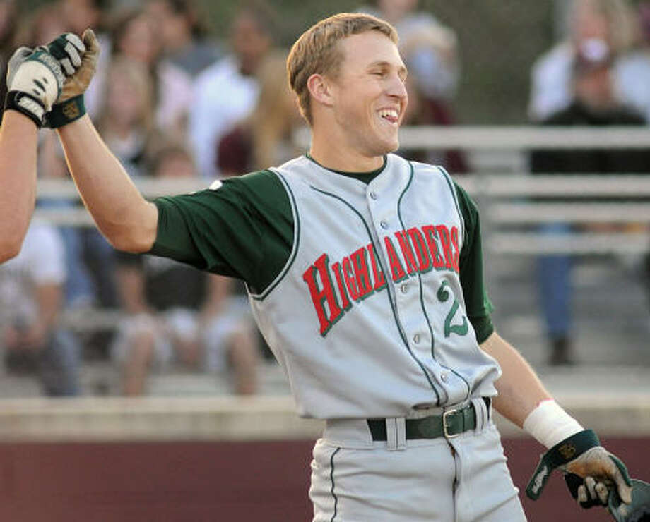 The Woodlands (with Jake Carlson) leads its district in hitting and pitching. Photo: David Hopper, For The Chronicle