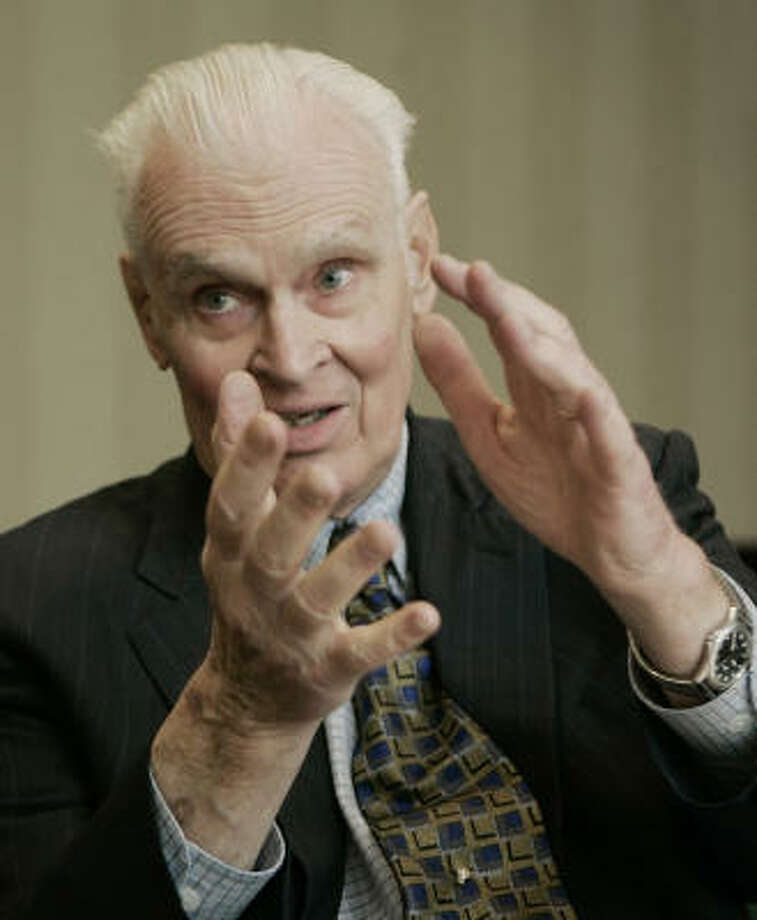 Dr. William Gray, a top hurricane researcher, questions the impact of global warming on Earth's climate. Photo: AP