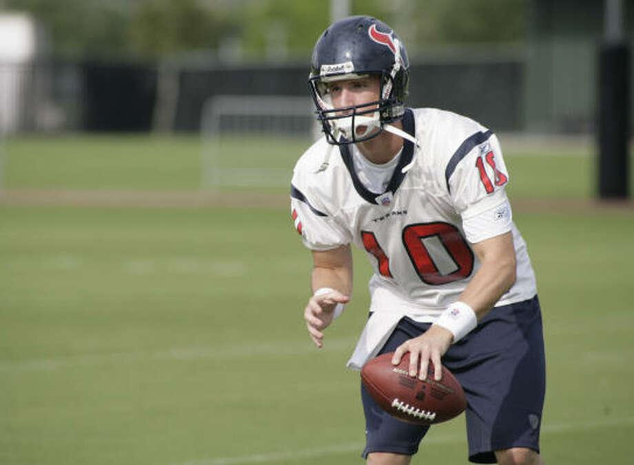 Texans rookie Alex Brink played his college football at Washington State. Photo: Julio Cortez, Houston Chronicle