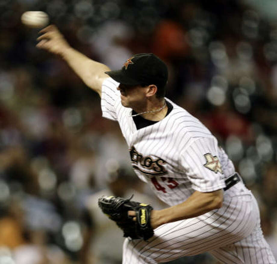 Astros pitcher Chris Sampson underwent surgery in Houston to repair a right lateral extensor tendon in his right elbow.      Monday, Sept. 8, 2008, in Houston. ( Eric Kayne / Chronicle ) Photo: Eric Kayne, Houston Chronicle