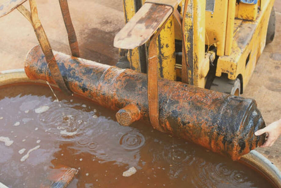 At least one cannon was found in a shipwreck 35 miles off the Louisiana coast. Photo: Donny L. Hamilton, Texas A&M University