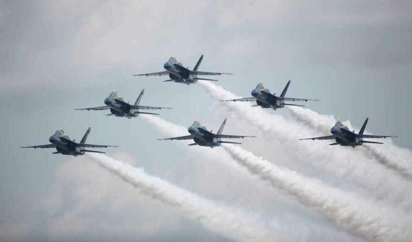 The Blue Angels perform.