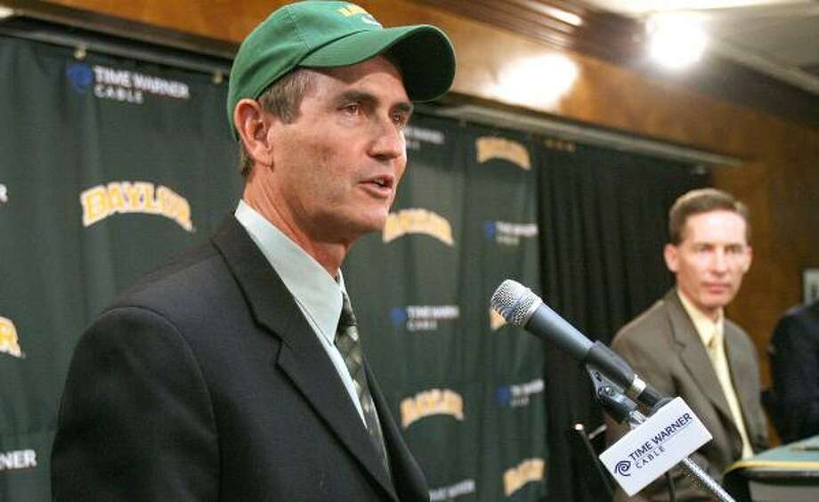 With the season fast approaching, new Baylor coach Art Briles has yet to announce who his starting QB will be. Photo: Duane A. Laverty, AP