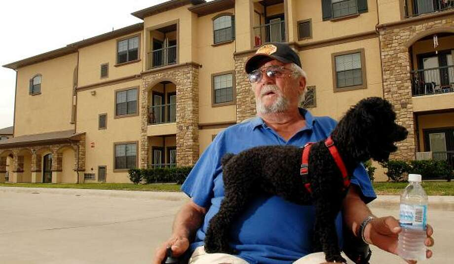 Bill Phillips was trapped for two days at his senior apartment at the Villas. Photo: DAVE ROSSMAN, FOR THE CHRONICLE