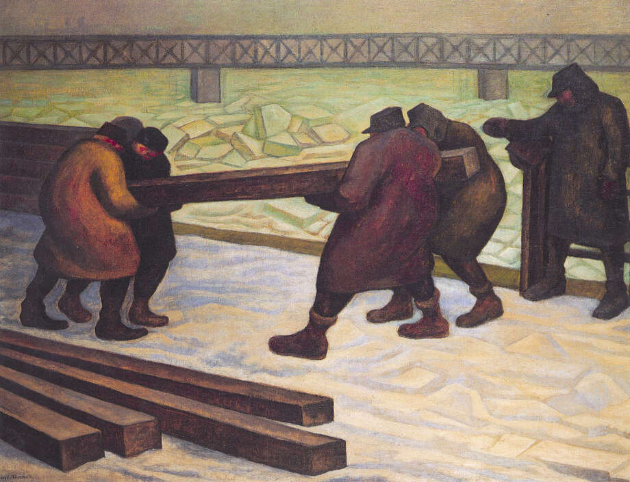 """Containing the Ice in the Danube of Bratislava"" is one of Diego Rivera's last works. INSTITUTO CULTURAL DE MEXICO"