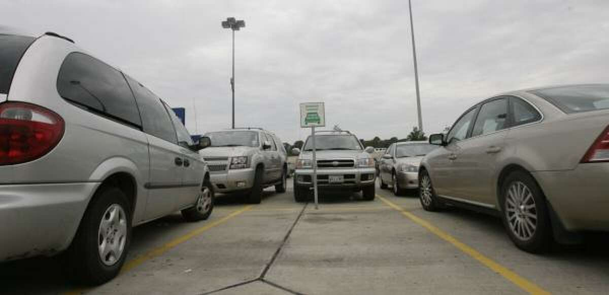 The lone hybrid spot at Houston's Ikea store was empty for most of a recent evening.