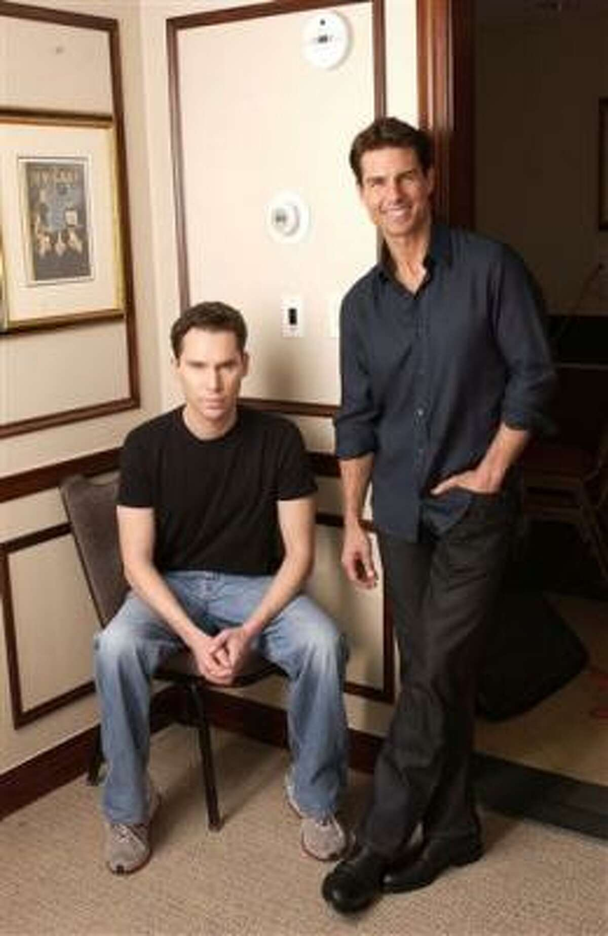 Actor Tom Cruise, right, and director Bryan Singer worked together on Valkyrie.