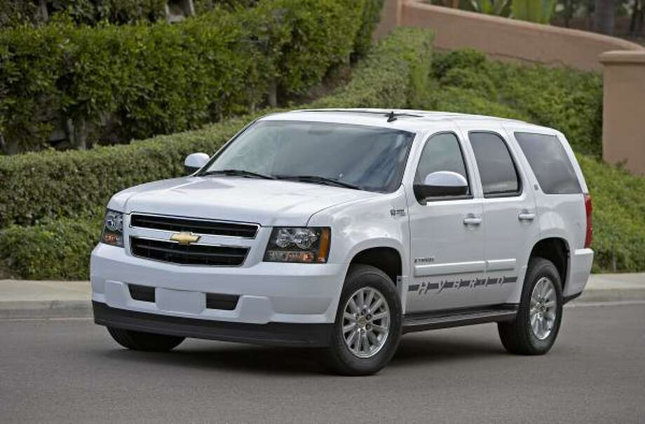 For Texans who aren't ready to give up the SUV, the Chevrolet Tahoe Hybrid is a more fuel-efficient choice. Photo: GM, Associated Press