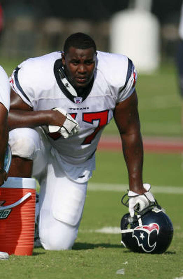 After being released by the Texans on Tuesday, Charles Spencer signed with the Carolina Panthers on Wednesday. Photo: James Nielsen, Houston Chronicle