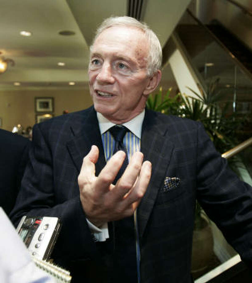 In an interview about the team's new stadium, Dallas Cowboys owner Jerry Jones took a moment to insult the Texans. Photo: BILL HABER, AP
