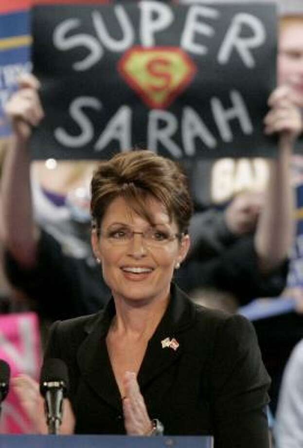 GOP vice-presidential contender Sarah Palin already has said she plans to remain on the national political landscape no matter what happens Tuesday. Photo: KEITH SRAKOCIC, ASSOCIATED PRESS