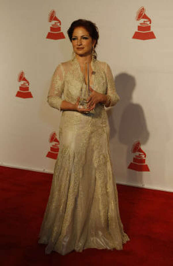 Gloria Estefan graces the red carpet at the George R. Brown Convention Center on Wednesday. Leading up to the Latin Grammys on Thursday, Estefan was honored as this year's Latin Recording Academy Person of the Year. Photo: Julio Cortez, Chronicle