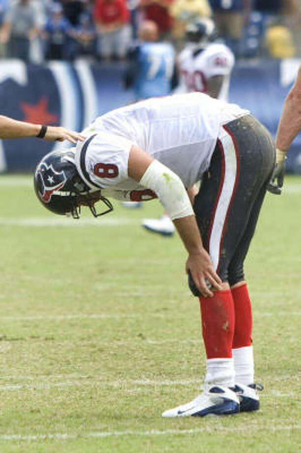 Matt Schaub is still the Texans starting quarterback, even after an 0-2 start. Photo: Brett Coomer, Chronicle