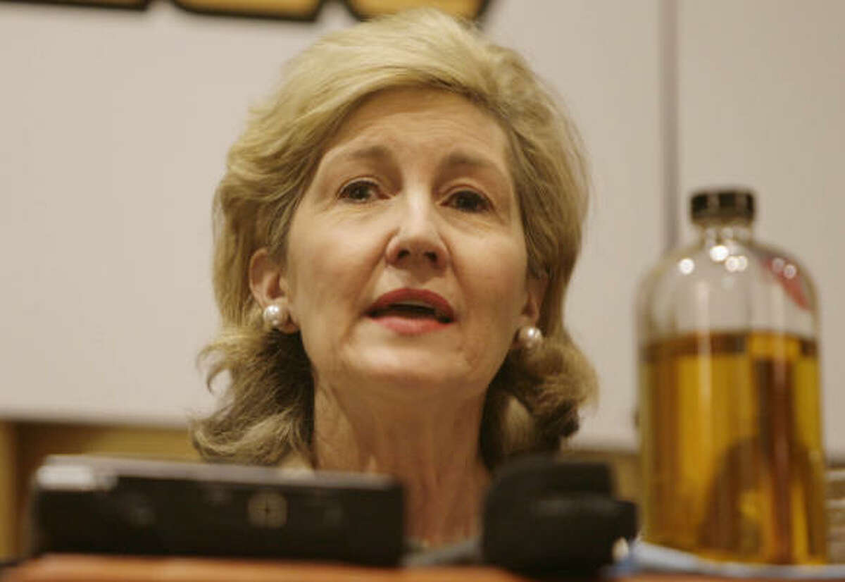 U.S. Sen. Kay Bailey Hutchison, R-Texas, says she feels like the story has been