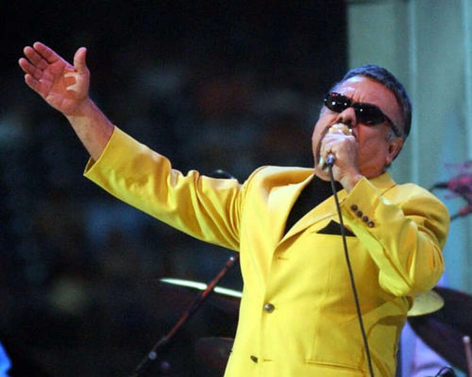 """""""Little"""" Joe Hernandez performs at Go Tejano Day 2003. Photo: Chronicle File"""