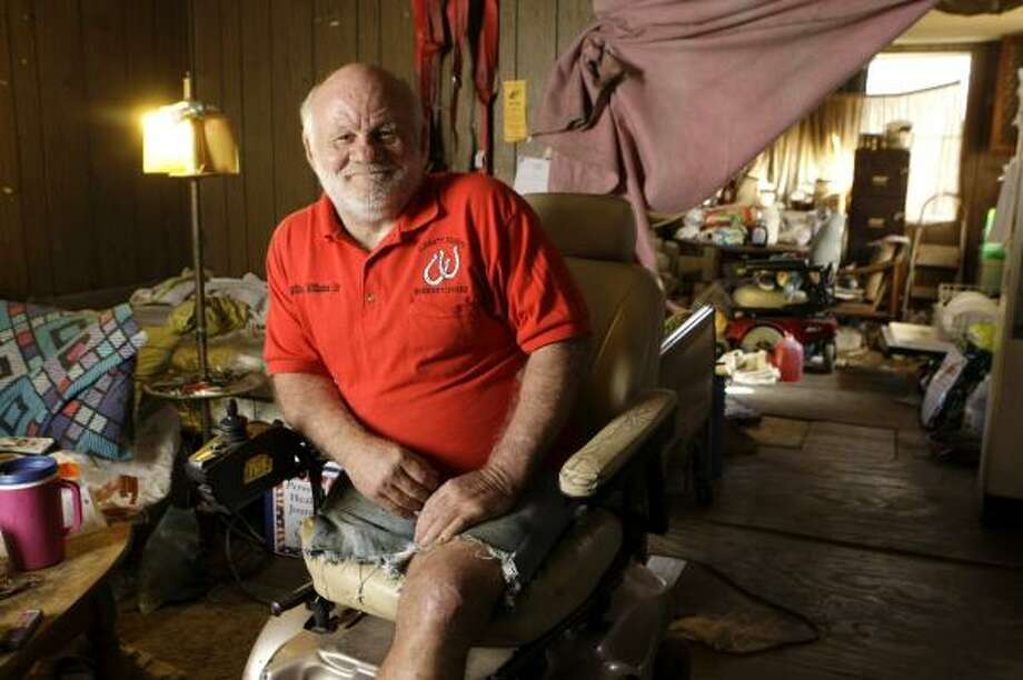 Willie Williams Sr. plans to replace his dilapidated, 40-year-old mobile home when he gets the check from the Department of Veterans Affairs. He lost a leg to diabetes, which has been linked to Agent Orange exposure, more than 30 years ago. Photo: BRETT COOMER, CHRONICLE