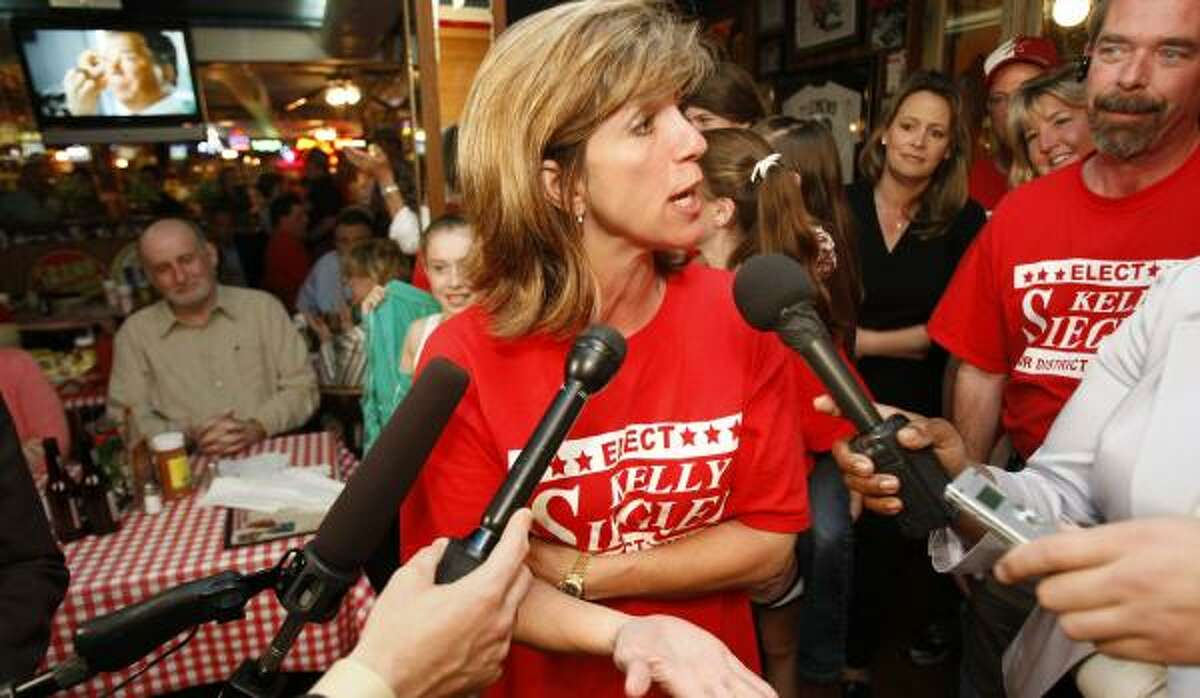 Kelly Siegler had no comment on the results of a primary she led in the first round of voting in March.