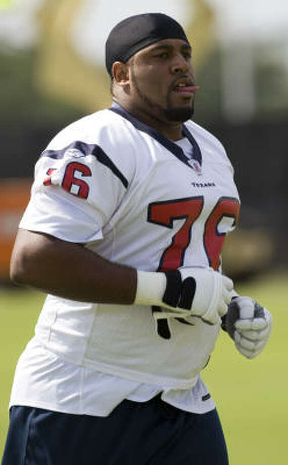 Texans OL Duane Brown is confident he can be a starter when the season begins in September. Photo: Brett Coomer, Houston Chronicle