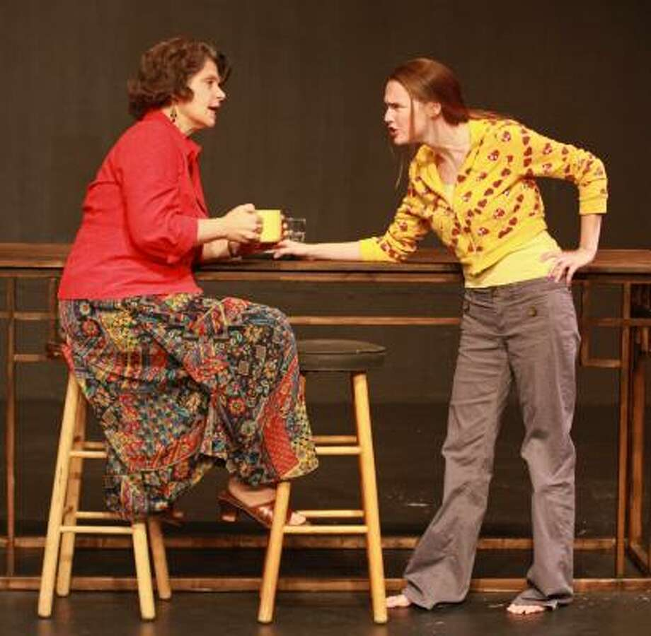Mother Laurie, played by Rebecca Greene Udden, left, and daughter Emily, played by Mollie Meagher, do not see eye to eye. Photo: GARY FOUNTAIN, FOR THE CHRONICLE