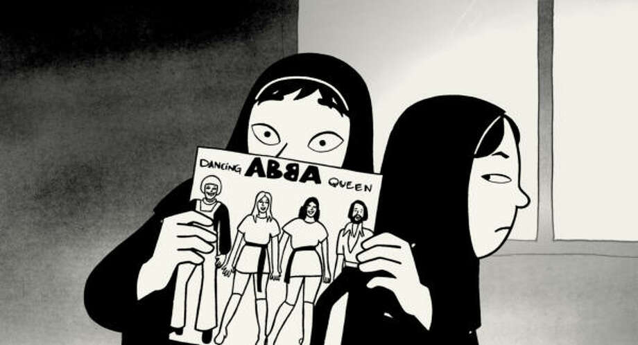 Marjane, a young, outspoken Iranian girl, discovers ABBA and Iron Maiden in Persepolis. Photo: Sony Pictures Classics