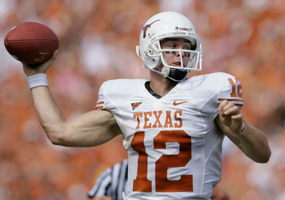 Texas quarterback Colt McCoy received 1,604 points to finish second in the Heisman voting. Photo: Matt Slocum, AP