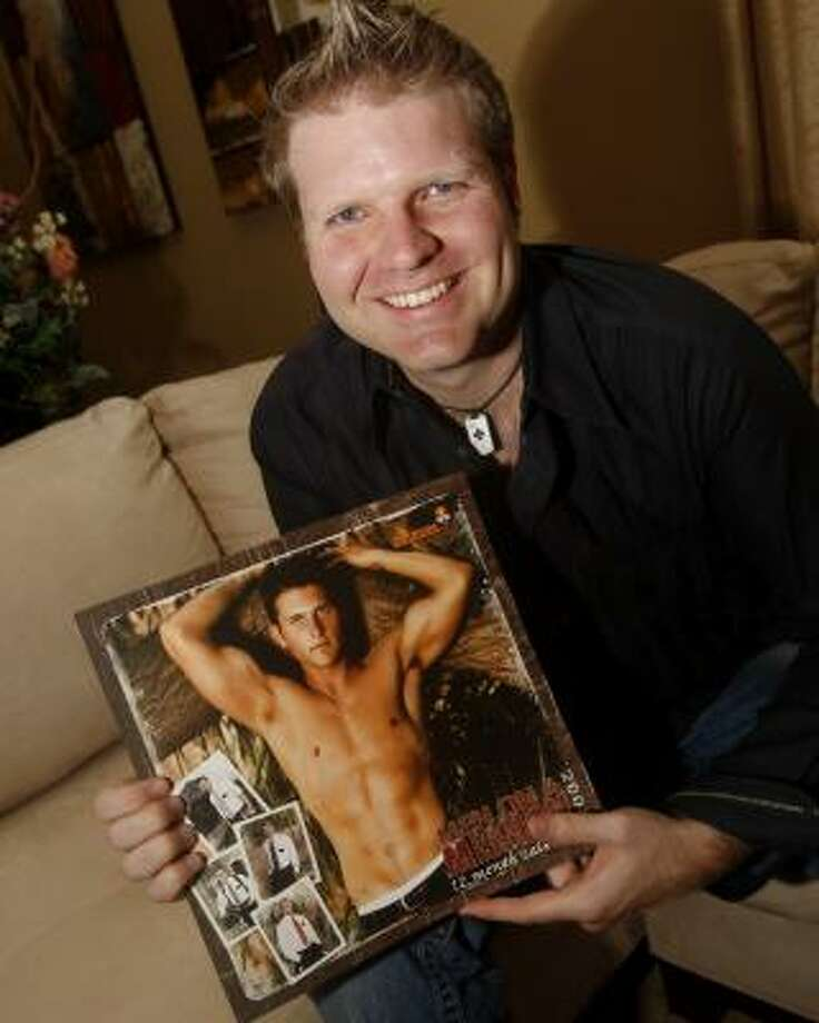 "Chad Hardy, creator of the ""Men on a Mission"" calendar, was summoned by a leader of the Church of Jesus Christ of Latter-day Saints. Photo: ISSAC BREKKEN, ASSOCIATED PRESS"