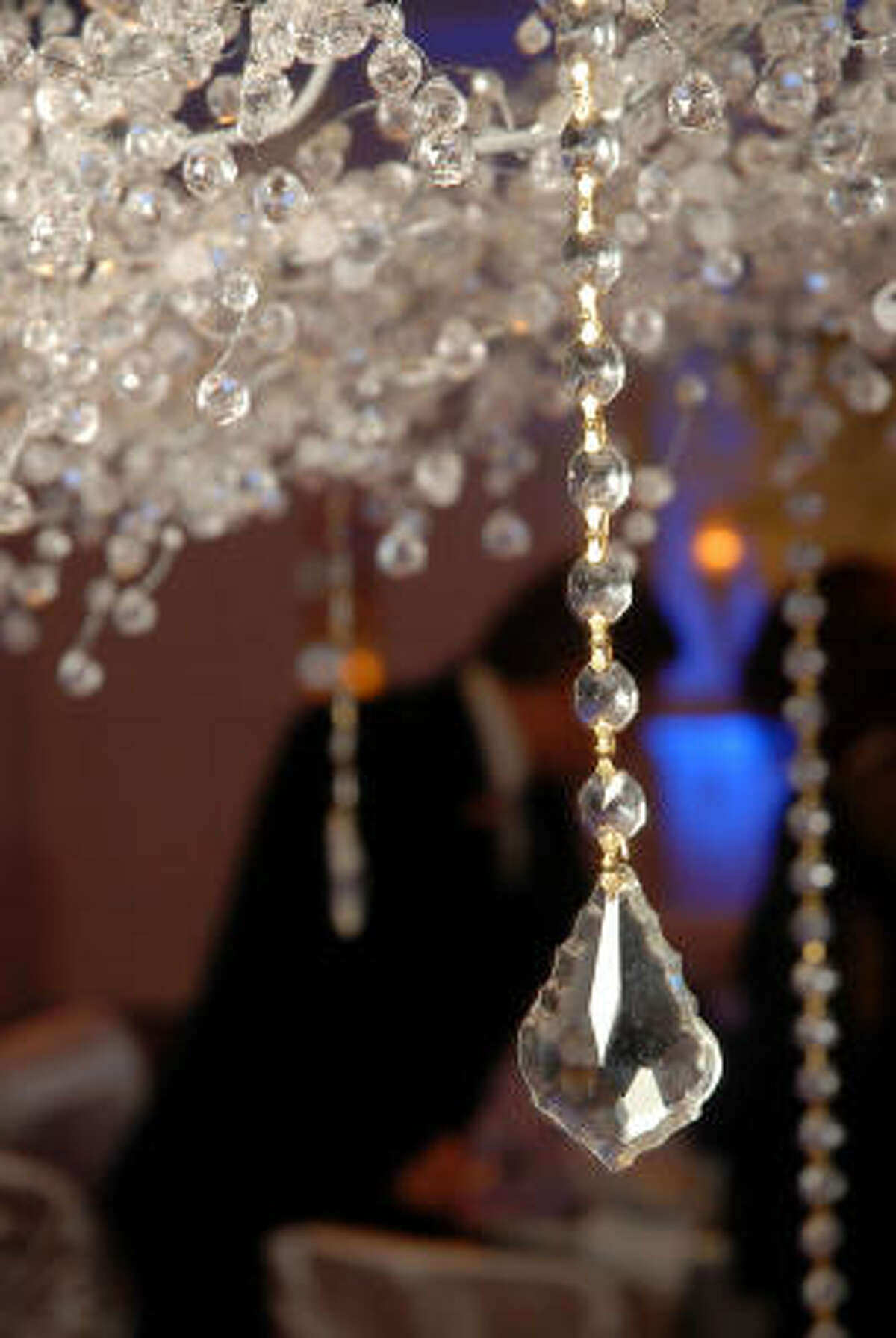 Some of the decor at the Crystal Ball at the River Oaks Country Club