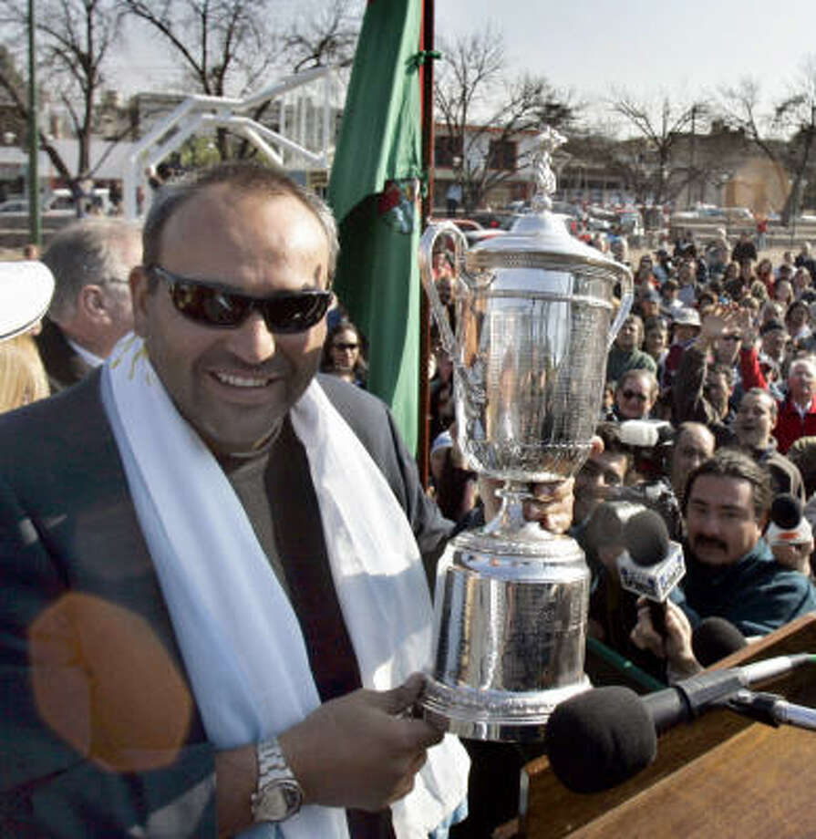 Argentina's Angel Cabrera, the 2007 U.S. Open winner, is coming to Houston. Photo: Natacha Pisarenko, AP
