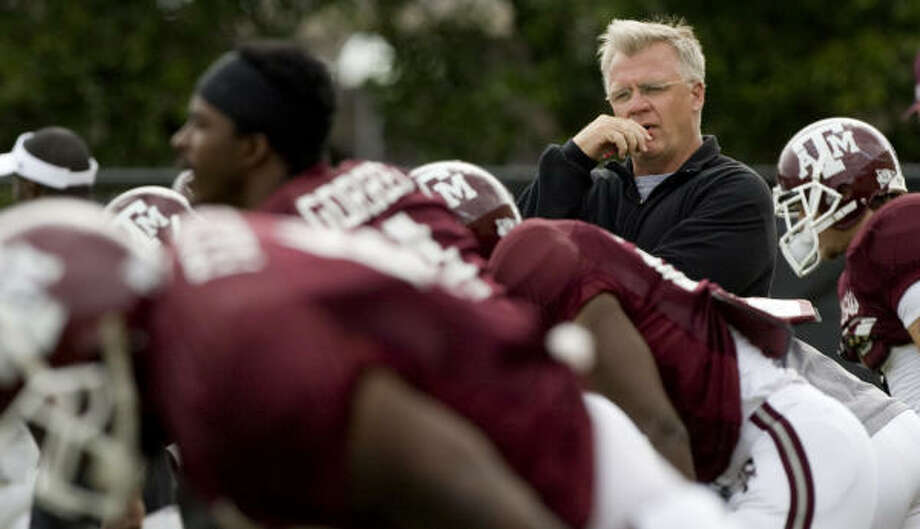 Mike Sherman says there is a new commitment to challenge Oklahoma and Texas for Big 12 South supremacy. Photo: Brett Coomer, Chronicle