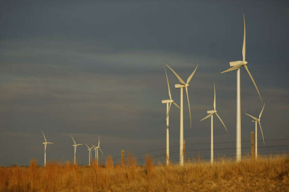 Lone Star Wind Farm leases property from four different ranches to place the turbines in Shackelford County near Abilene. Photo: Mayra Beltran, Houston Chronicle