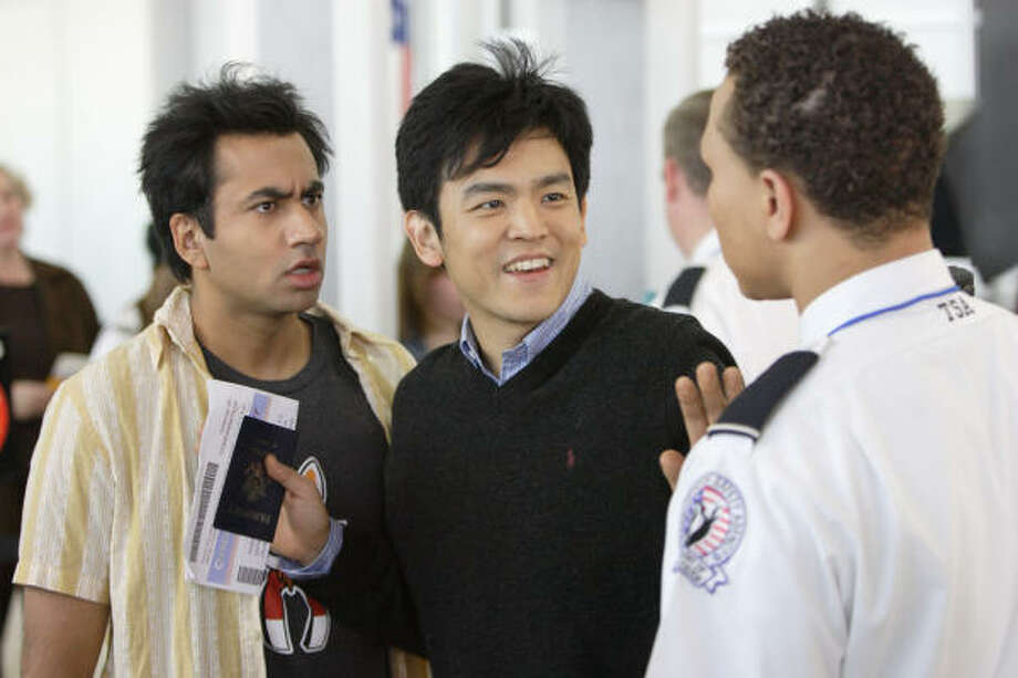 Kal Penn stars as Kumar and John Cho stars as Harold in New Line Cinema's upcoming release Harold and Kumar Escape from Guantanamo Bay. Photo: New Line Cinema