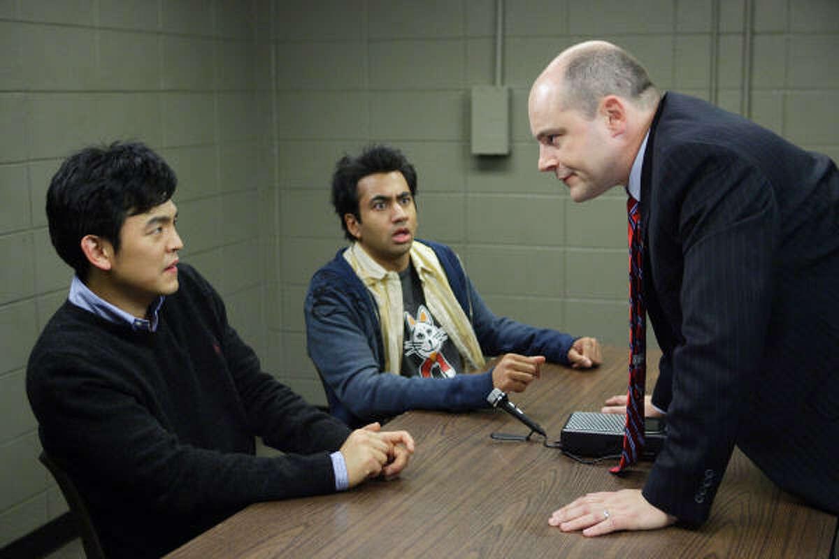 Harold (John Cho) and Kumar (Kal Penn) are suspected as terrorists in Harold and Kumar Escape from Guantanamo Bay.
