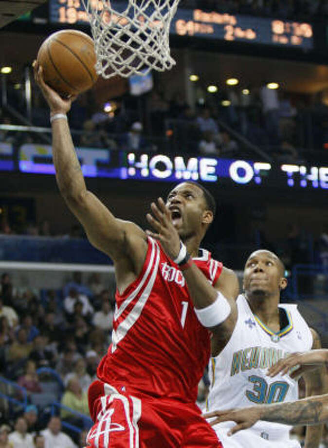 Tracy McGrady got his 34 points on an array of perimeter jumpers, driving layups through crowds and soaring dunks. Photo: Alex Brandon, AP