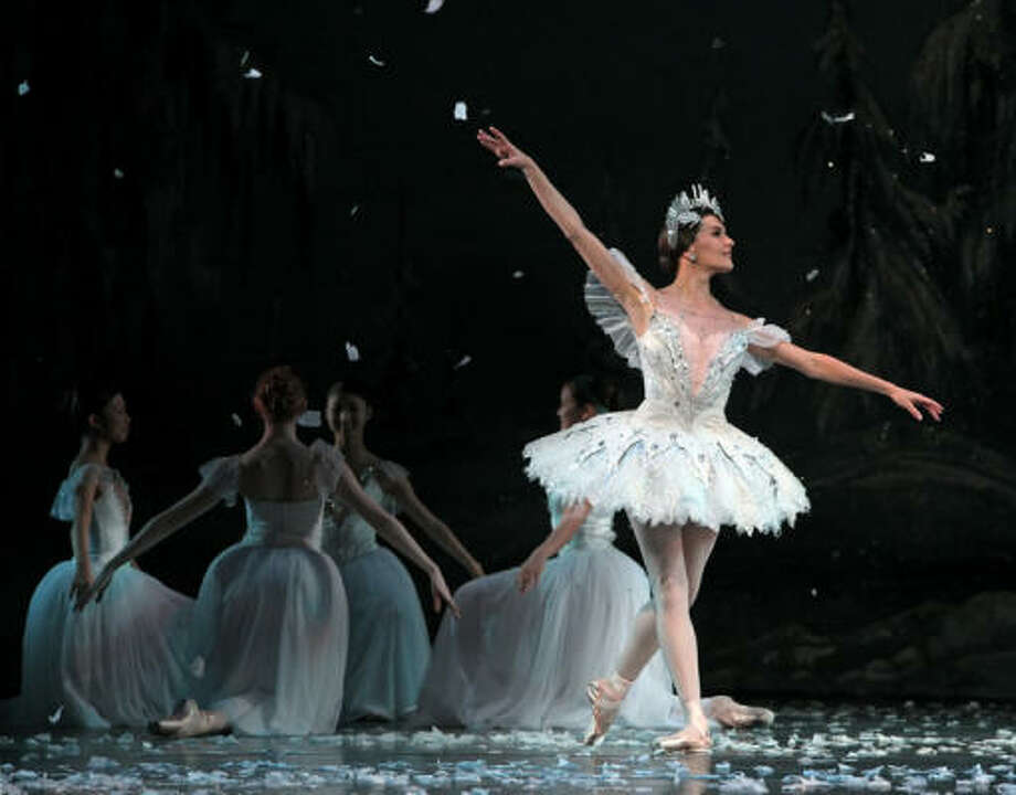 Houston Ballet soloist Tyann Clement, who is retiring, dances the role of the Snow Queen in The Nutcracker. Photo: Amitava Sarkar