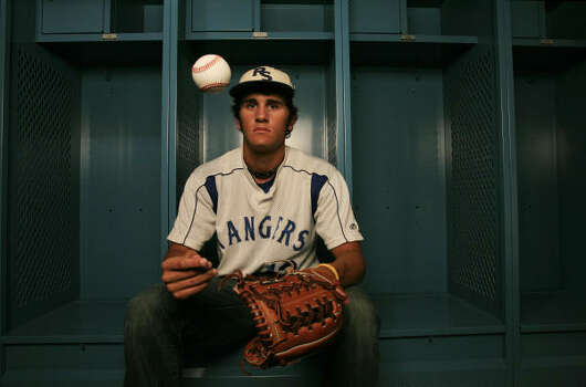 Baytown Sterling's Brett Marshall is the All-Greater Houston baseball player of the year. Marshall led Sterling in hitting, batting .500 for the season. He also was one of the team leaders in pitching, Photo: Eric Kayne, Chronicle