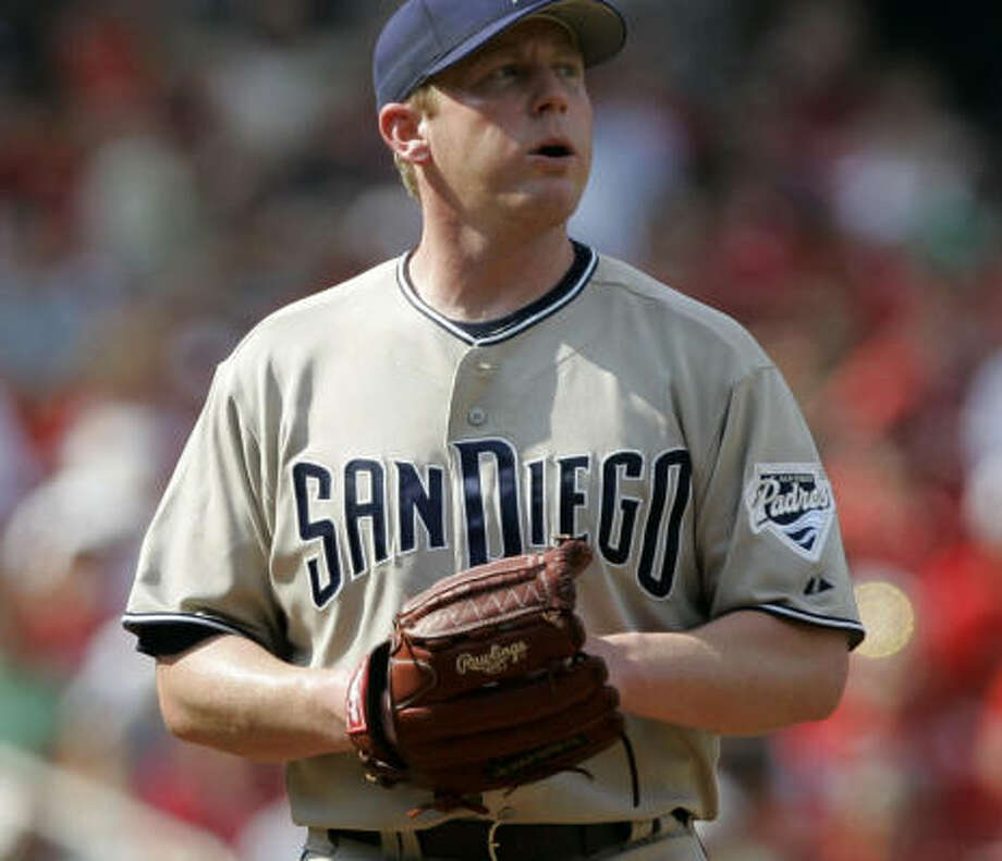 Randy Wolf is 2-2 in five starts at Miller Park, where he will make his Astros debut on Sunday. Photo: Jeff Roberson, AP