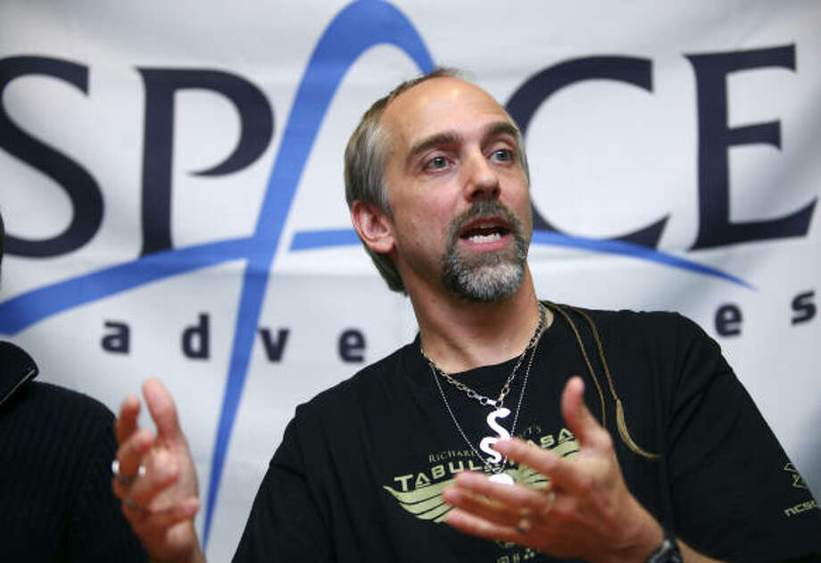 Richard Garriott, who grew up in Houston, is paying the Russians $30 million for a 10- to 14-day voyage to the space station. Photo: DMITRY KOSTYUKOV, AFP/Getty Images
