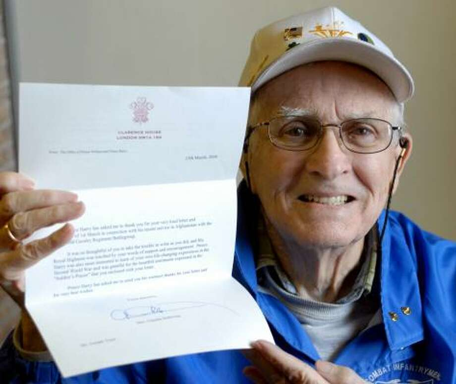 WWII vet writes Prince Harry, gets a response - Houston