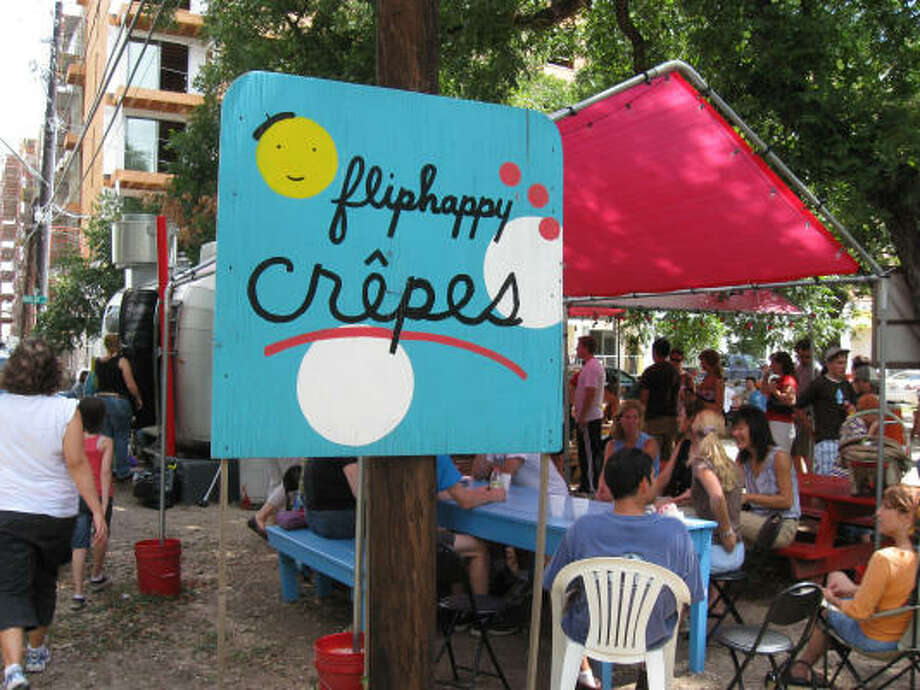 The fare at Fliphappy Crepes is well worth waiting in long lines. Photo: Patrick Badgley, Chronicle