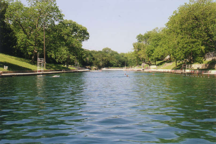 The 1,000-foot-long Barton Springs Pool offers 68-degree water from the Edwards Aquifer. Photo: Michael D. Brockway, Special To The Chronicle