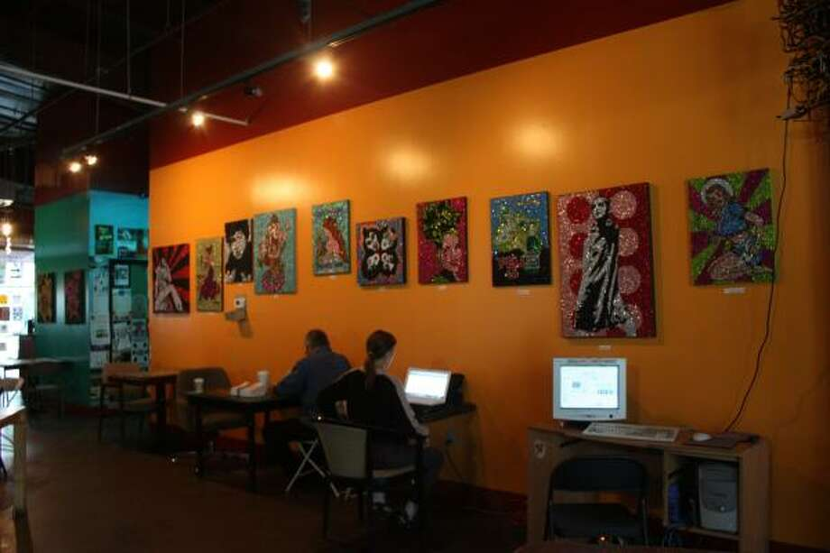 Austin's Ruta Maya Coffee House serves as a community center as much as it does as a java joint. Photo: TRACY L. BARNETT
