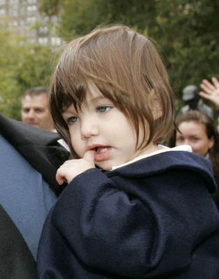 "Two-year-old Suri Cruise, daughter of Tom Cruise and Katie Holmes, topped Forbes.com's second annual list of ""Hollywood's 10 Hottest Tots."" Photo: Kathy Willens, Associated Press"