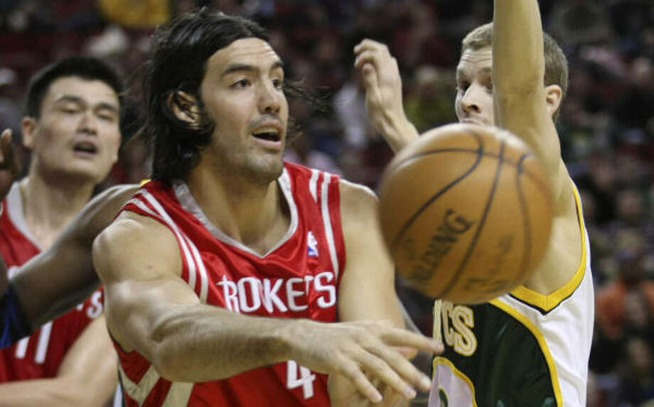 Luis Scola thought the Rockets would only need one defensive stop in the final minute, but it took two to win. Photo: John Froschauer, AP
