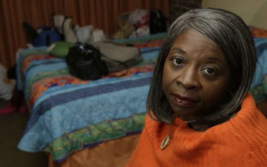Rosalind Johnson, a CT scan technician at John Sealy Hospital, has been living in a Galveston hotel since Ike damaged her home. She is expected to learn on Thursday if she will still have a job. Photo: Melissa Phillip, Houston Chronicle