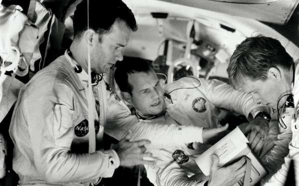 We owe the phrase to Apollo 13 -- not the mission, but the movie. From left, Tom Hanks, Bill Paxton and Kevin Bacon.